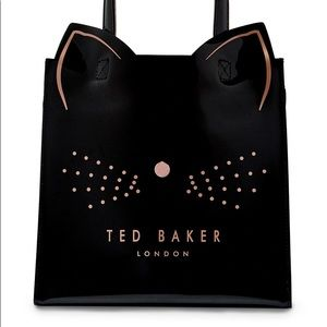 Ted Baker Large Cat Kitty Tote Bag Purse NWT